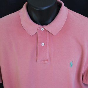 Ralph Lauren Polo Pique Cotton Polo Coral XXL